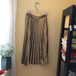 ROOLEE velvet accordion skirt